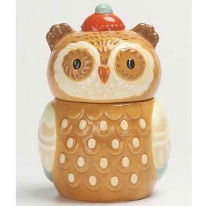 🦉Owl candy jar ceramic storage NWOT🦉